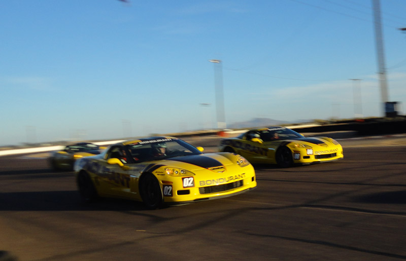 Corvettes at Bondurant 2012